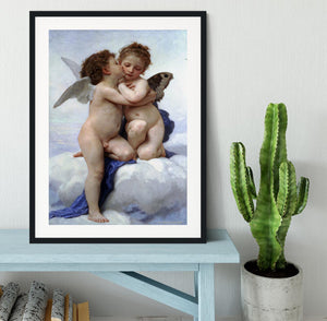 First Kiss By Bouguereau Framed Print - Canvas Art Rocks - 1