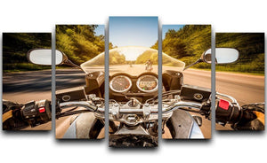 First Person Motorbike Ride 5 Split Panel Canvas  - Canvas Art Rocks - 1