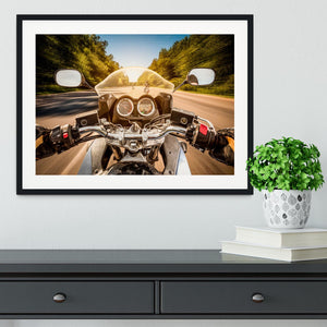 First Person Motorbike Ride Framed Print - Canvas Art Rocks - 1