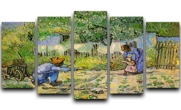 First Steps by Van Gogh 5 Split Panel Canvas