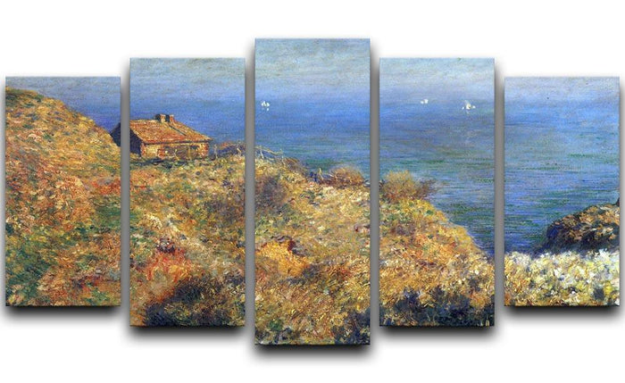 Fishermans lodge at Varengeville by Monet 5 Split Panel Canvas