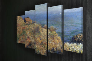Fishermans lodge at Varengeville by Monet 5 Split Panel Canvas - Canvas Art Rocks - 2