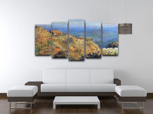 Fishermans lodge at Varengeville by Monet 5 Split Panel Canvas - Canvas Art Rocks - 3