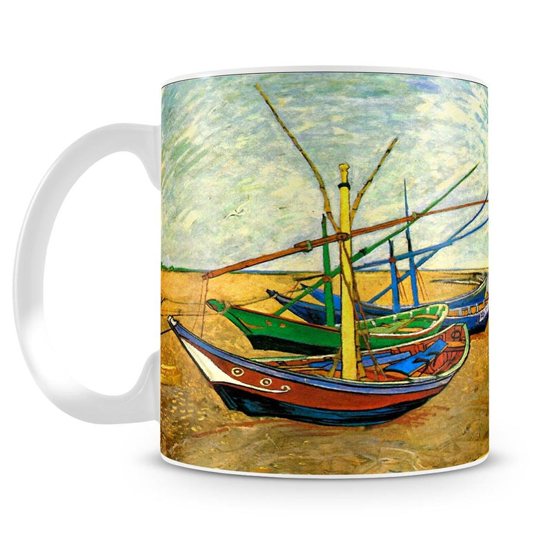 Fishing Boats on the Beach at Saintes-Maries by Van Gogh Mug - Canvas Art Rocks - 4