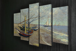 Fishing boats at Sainte Marie 5 Split Panel Canvas - Canvas Art Rocks - 2