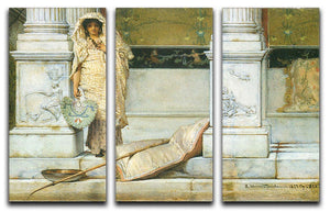Fishing by Alma Tadema 3 Split Panel Canvas Print - Canvas Art Rocks - 1
