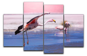 Flamingo in Bolivia 4 Split Panel Canvas - Canvas Art Rocks - 1