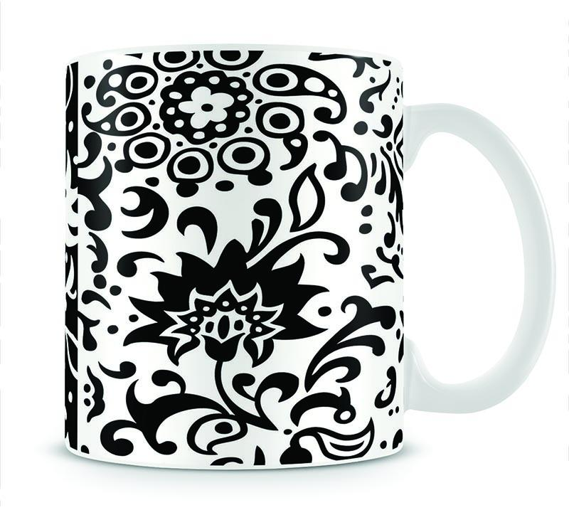Floral Chic Mug - Canvas Art Rocks - 1