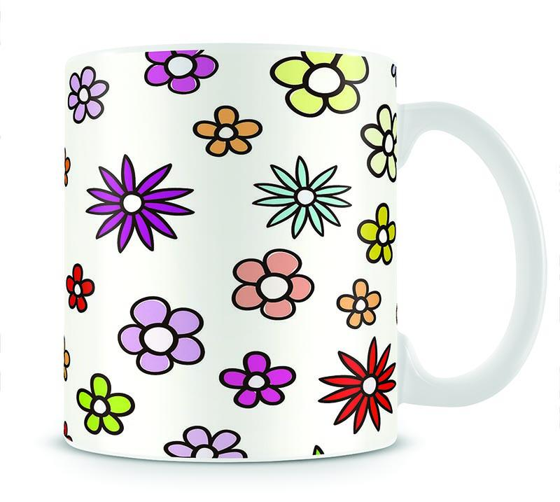 Floral Repeat Mug - Canvas Art Rocks - 1