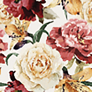 Floral pattern with roses Wall Mural Wallpaper - Canvas Art Rocks - 1