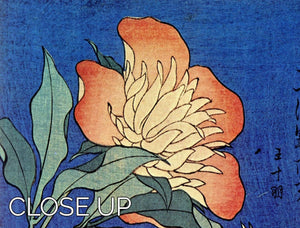 Flowers by Hokusai 3 Split Panel Canvas Print - Canvas Art Rocks - 3
