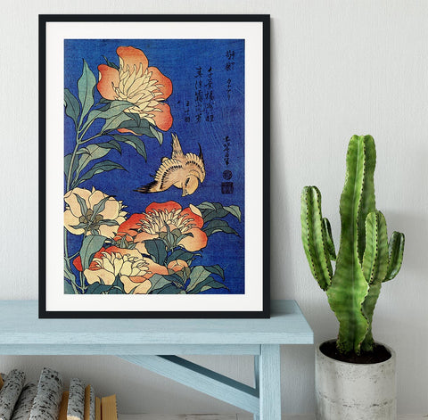 Flowers by Hokusai Framed Print - Canvas Art Rocks - 1