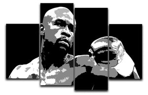 Floyd Mayweather Pop Art 4 Split Panel Canvas  - Canvas Art Rocks - 1
