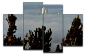 Fog at Jodrell Bank 4 Split Panel Canvas - Canvas Art Rocks - 1