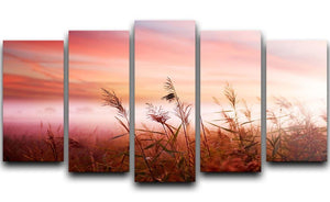 Foggy Landscape Early Morning Mist 5 Split Panel Canvas  - Canvas Art Rocks - 1