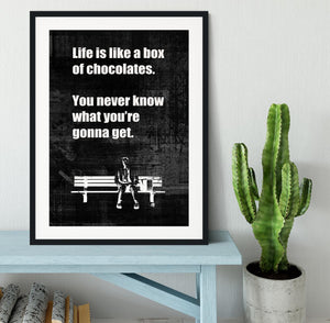 Forrest Gump Framed Print - Canvas Art Rocks - 1