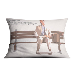 Forrest Gump Mama Said Cushion
