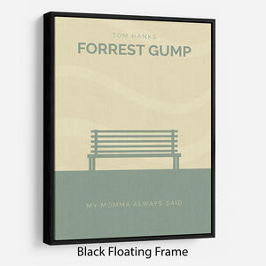 Forrest Gump Minimal Movie Floating Frame Canvas - Canvas Art Rocks - 1