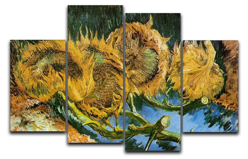 Four Cut Sunflowers-Van Gogh CANVAS OR PRINT WALL ART