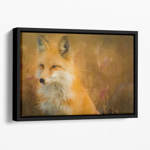 Fox Painting Floating Framed Canvas