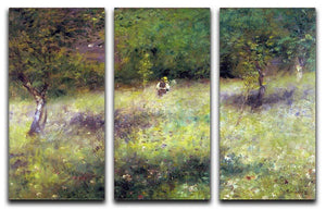 Frahling in Chatou by Renoir 3 Split Panel Canvas Print - Canvas Art Rocks - 1