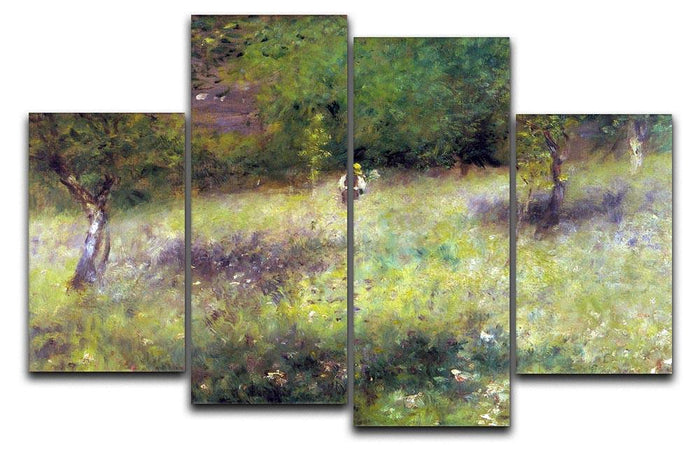 Frahling in Chatou by Renoir 4 Split Panel Canvas