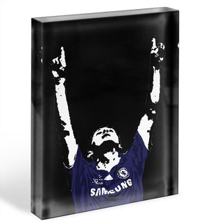 Frank Lampard Pop Art Acrylic Block - Canvas Art Rocks - 1