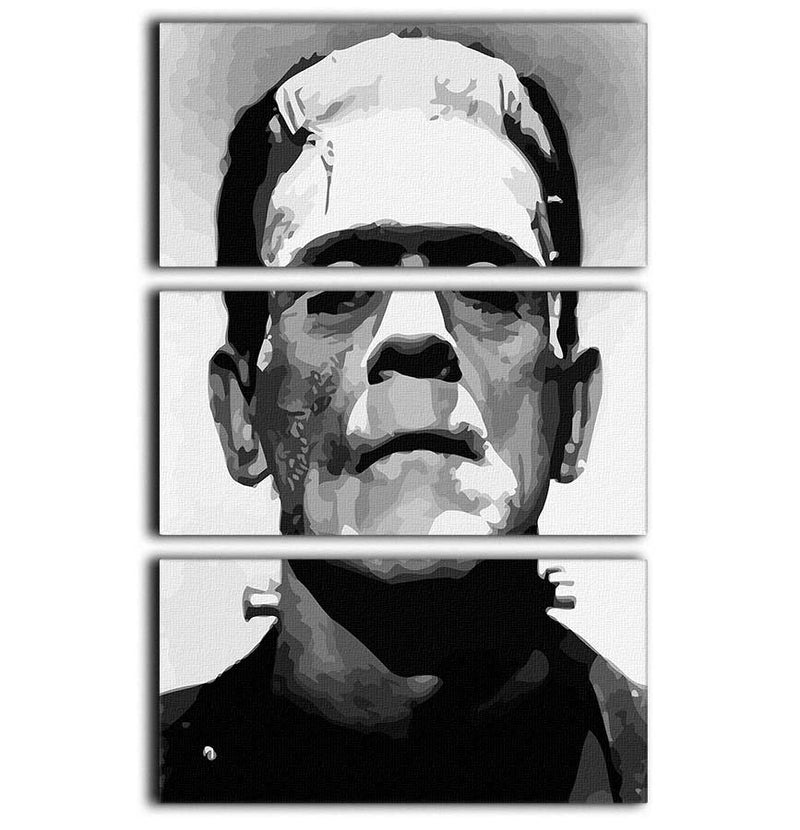 Frankenstein 3 Split Panel Canvas Print - Canvas Art Rocks - 1