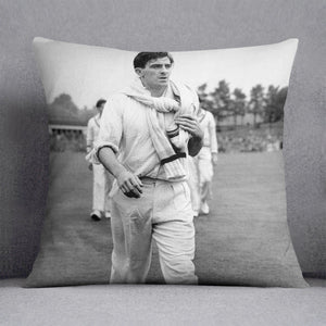 Fred Trueman 1954 Cushion - Canvas Art Rocks - 1