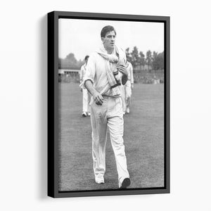 Fred Trueman 1954 Floating Framed Canvas - Canvas Art Rocks - 1