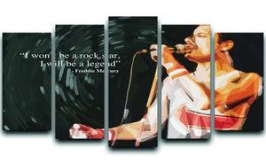 Freddie Mercury Rock Star 5 Split Panel Canvas  - Canvas Art Rocks - 1