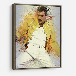 Freddie Mercury Splatter HD Metal Print