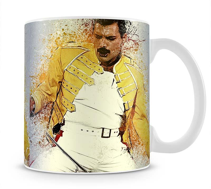 Freddie Mercury Splatter Mug - Canvas Art Rocks - 1