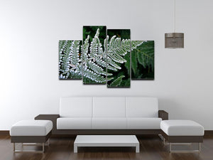 Frosty Fern 4 Split Panel Canvas - Canvas Art Rocks - 3