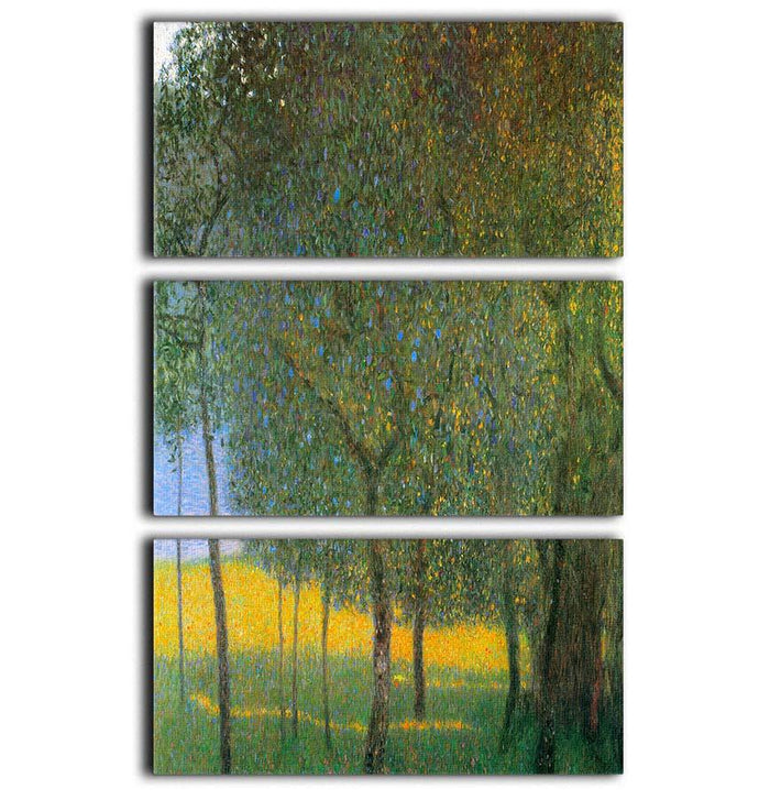 Fruit Trees by Klimt 3 Split Panel Canvas Print