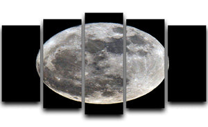 Full Moon 5 Split Panel Canvas - Canvas Art Rocks - 1