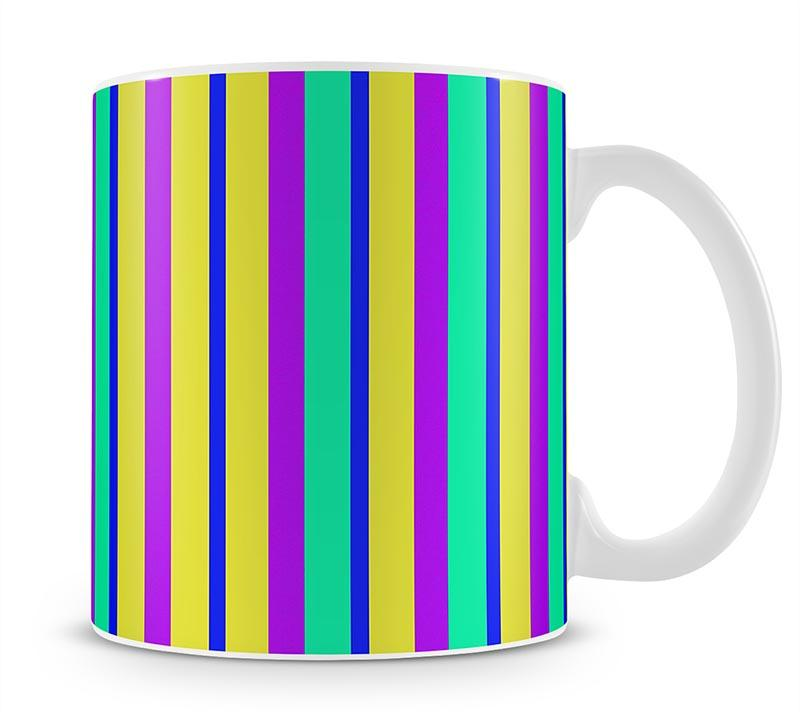 Funky Stripes Multi 1 Mug - Canvas Art Rocks - 1
