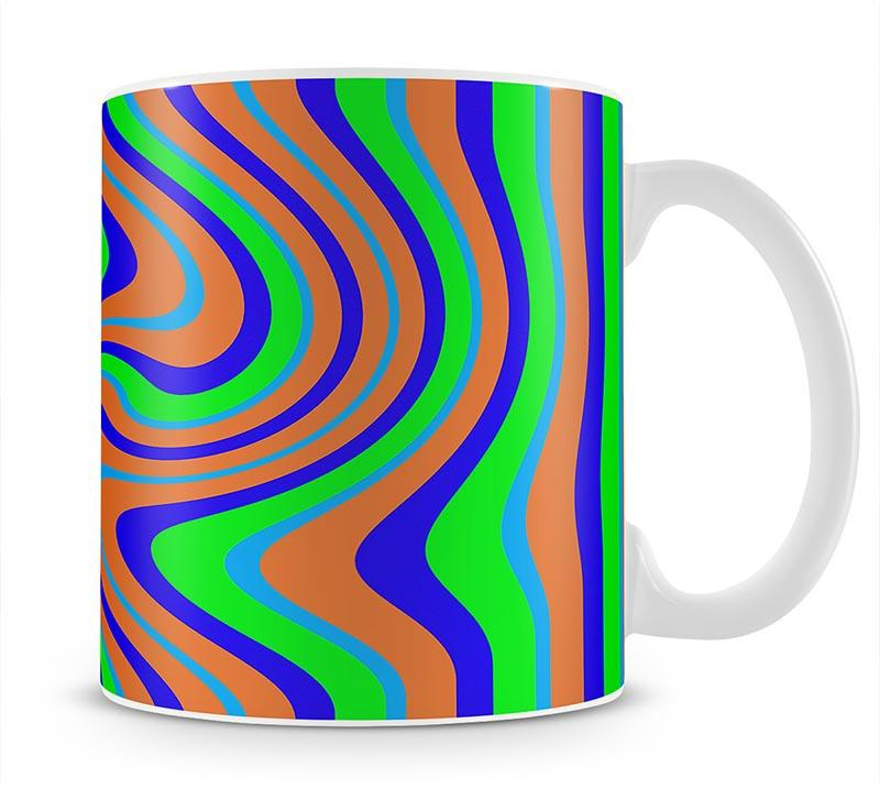 Funky Stripes Swirl 1 Mug - Canvas Art Rocks - 1