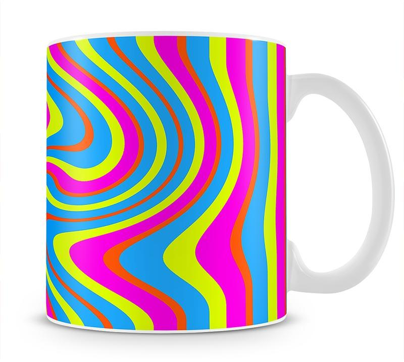 Funky Stripes Swirl 2 Mug - Canvas Art Rocks - 1