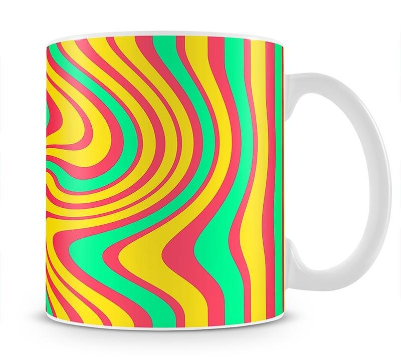 Funky Stripes Swirl 4 Mug - Canvas Art Rocks - 1