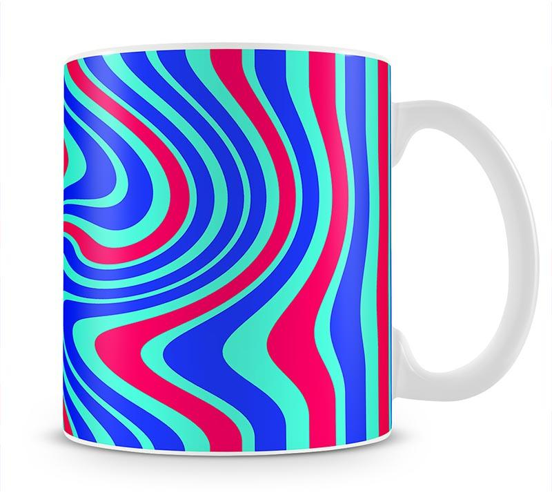 Funky Stripes Swirl 5 Mug - Canvas Art Rocks - 1