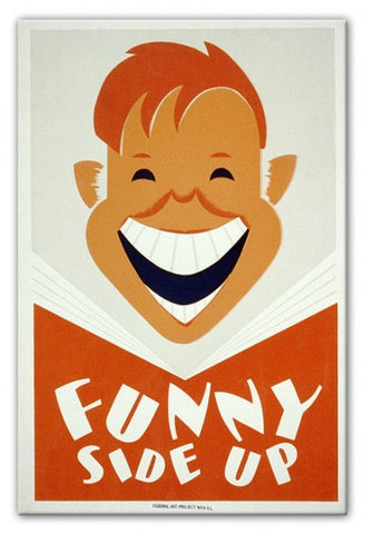Funny Side Up Print - They'll Love Wall Art - 1