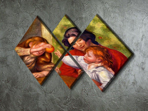 Gabrielle Jean and a girl by Renoir 4 Square Multi Panel Canvas - Canvas Art Rocks - 2