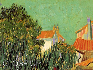 Garden Behind a House by Van Gogh 3 Split Panel Canvas Print - Canvas Art Rocks - 3