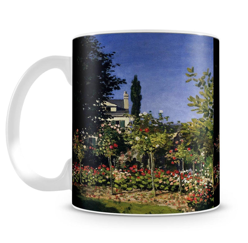Garden In Flower At Sainte Adresse by Monet Mug - Canvas Art Rocks - 4