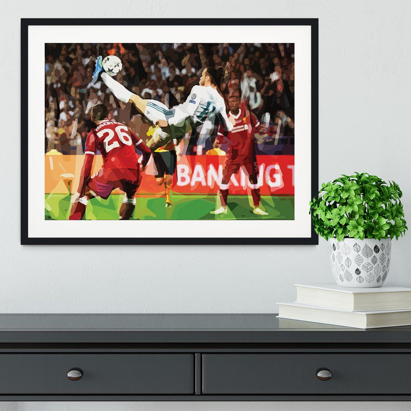 Gareth Bale Overhead Kick Framed Print - Canvas Art Rocks - 1