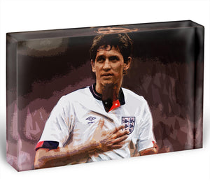 Gary Lineker England Acrylic Block - Canvas Art Rocks - 1