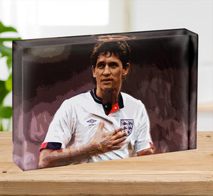 Gary Lineker England Acrylic Block - Canvas Art Rocks - 2