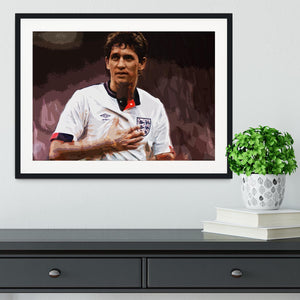 Gary Lineker England Framed Print - Canvas Art Rocks - 1