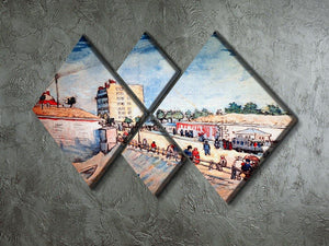 Gate in the Paris Ramparts by Van Gogh 4 Square Multi Panel Canvas - Canvas Art Rocks - 2